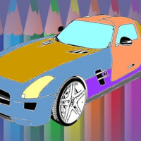 Muscle Cars Coloring Online